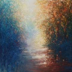 Mariusz Kaldowski, Secret River, Affordable Impressionist Landscape Painting