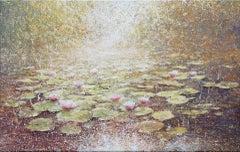Mariusz Kaldowski, Waterlilies, Original Landscape Painting, Affordable Art