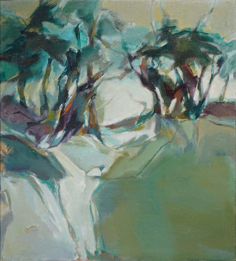 Abstract Treescape Landscape - Painting by Marjorie Cathcart