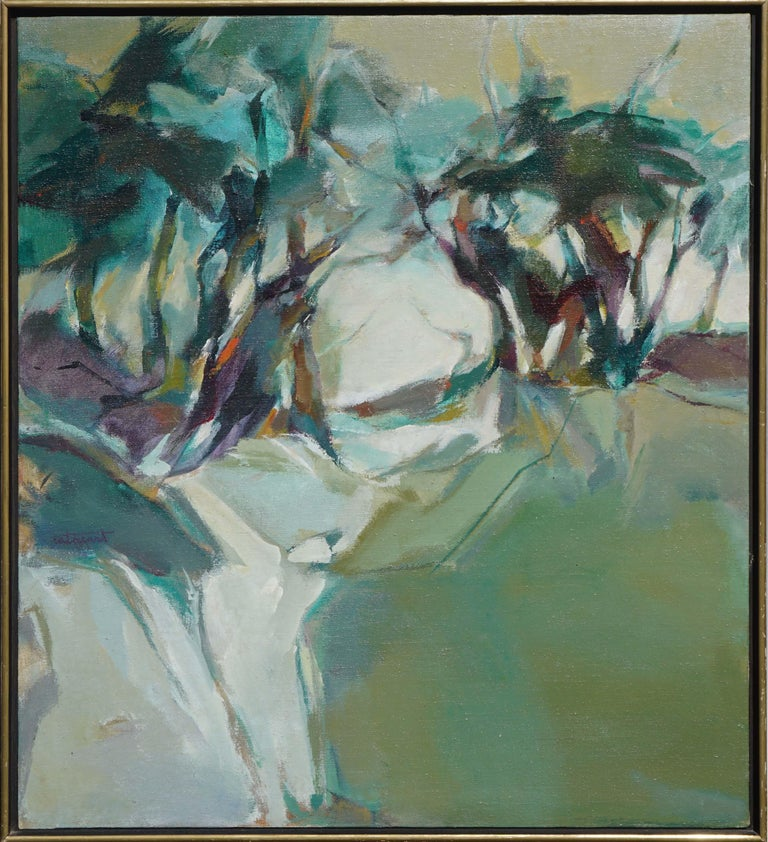 Marjorie Cathcart Abstract Painting - Abstract Treescape Landscape