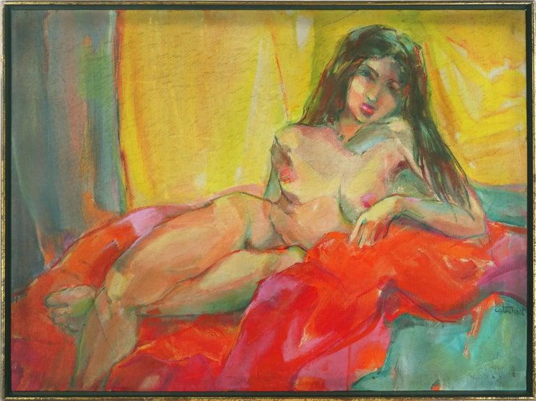 Marjorie Cathcart Nude Painting - Brunette Nude Study - Bay Area Figurative
