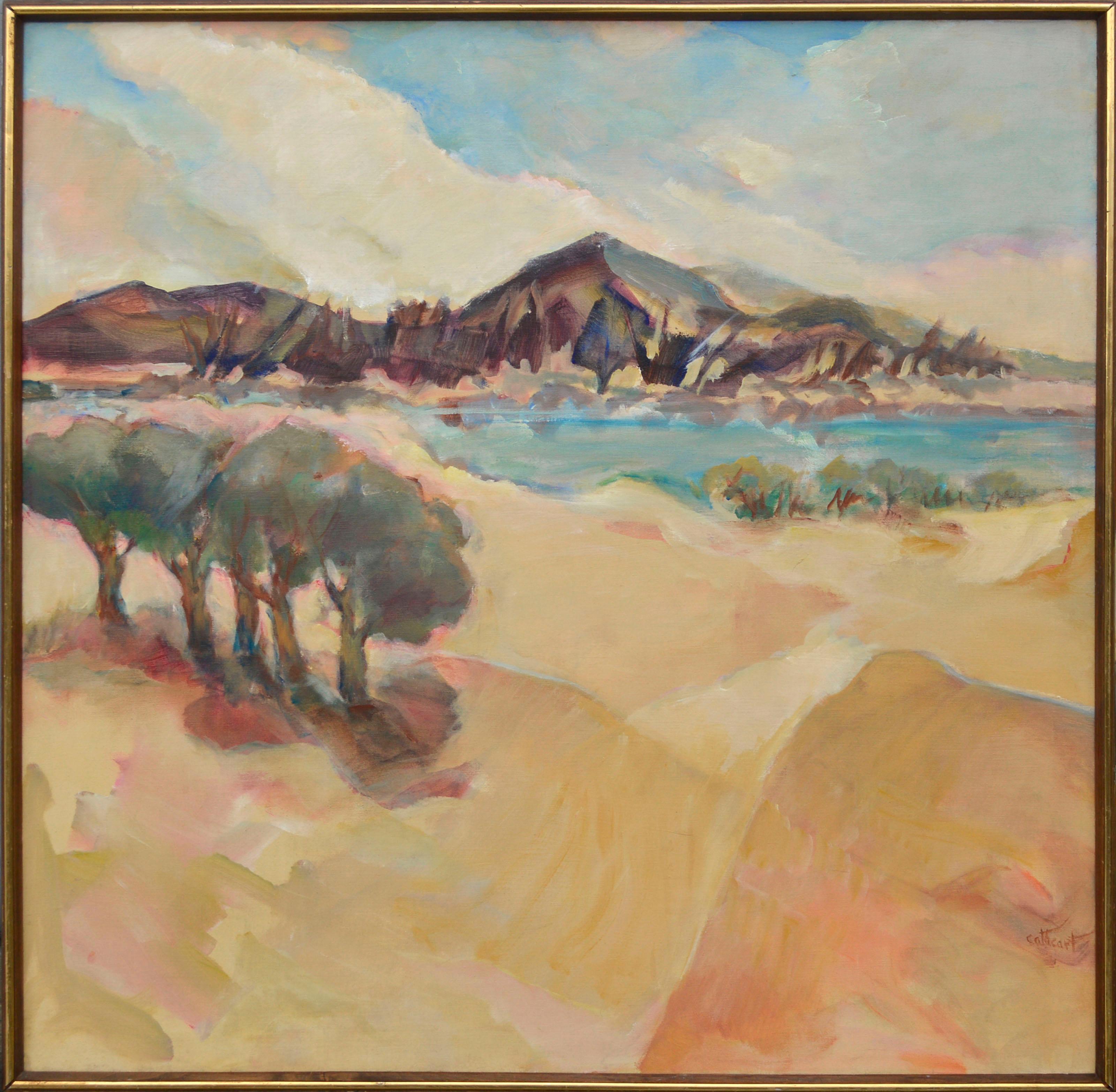 """Drifting Sands"" - Berkeley School Abstracted Landscape"