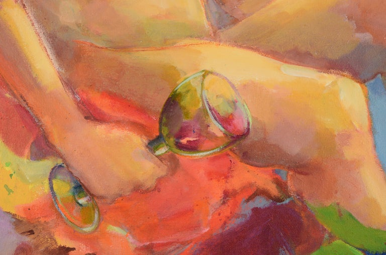 Nude with Wineglass - Bay Area Figurative For Sale 1