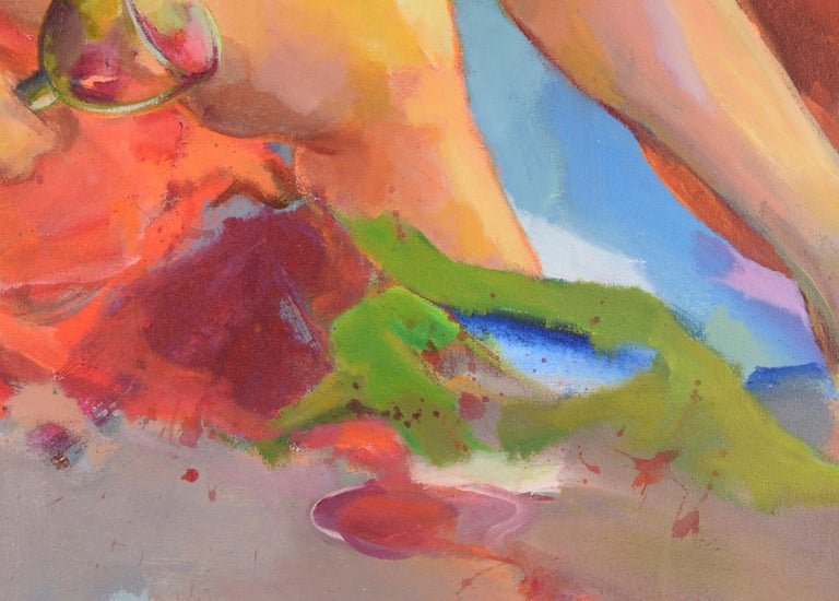 Nude with Wineglass - Bay Area Figurative For Sale 2