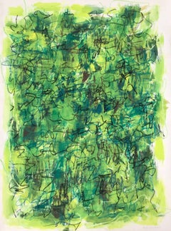 Untitled: Yellow, Green and Black Lithograph