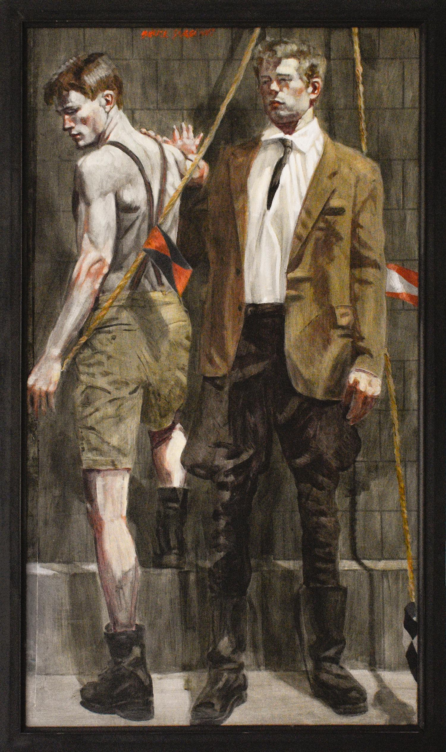 Boy in Suit: Academic Figurative Painting by Mark Beard aka. Bruce Sargeant