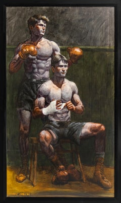 [Bruce Sargeant (1898-1938)] Before the Boxing Match
