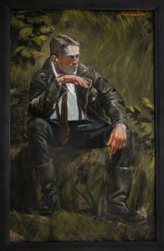 [Bruce Sargeant (1898-1938)] Black Leather Jacket and Black Leather Boots
