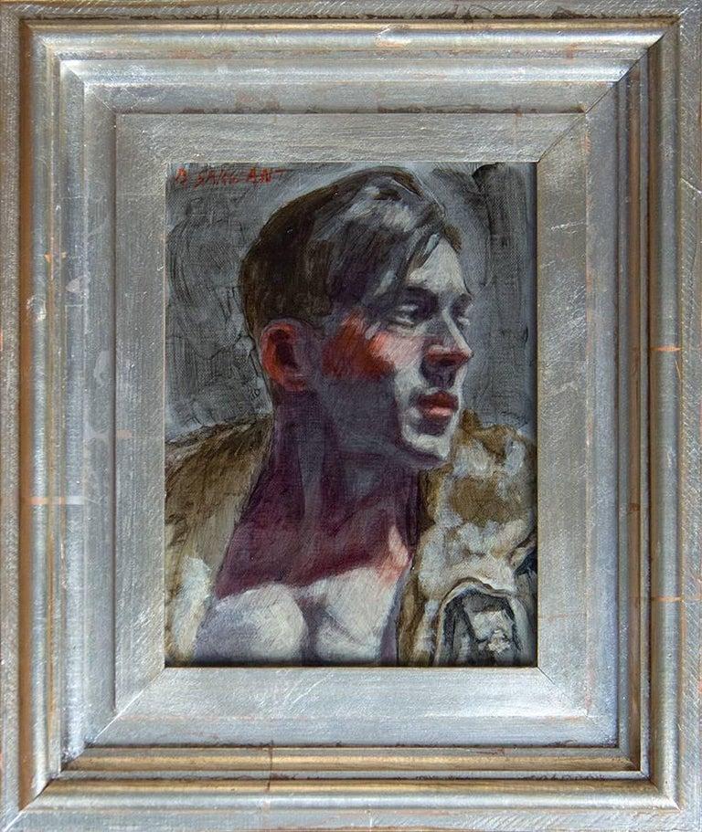 Mark Beard Portrait Painting - [Bruce Sargeant (1898-1938)] Boris in Bomber Jacket