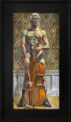 [Bruce Sargeant (1898 - 1938)] Cello Player in Powdered Peruke