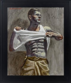 [Bruce Sargeant (1898-1938)] Charlie Taking Off His Shirt