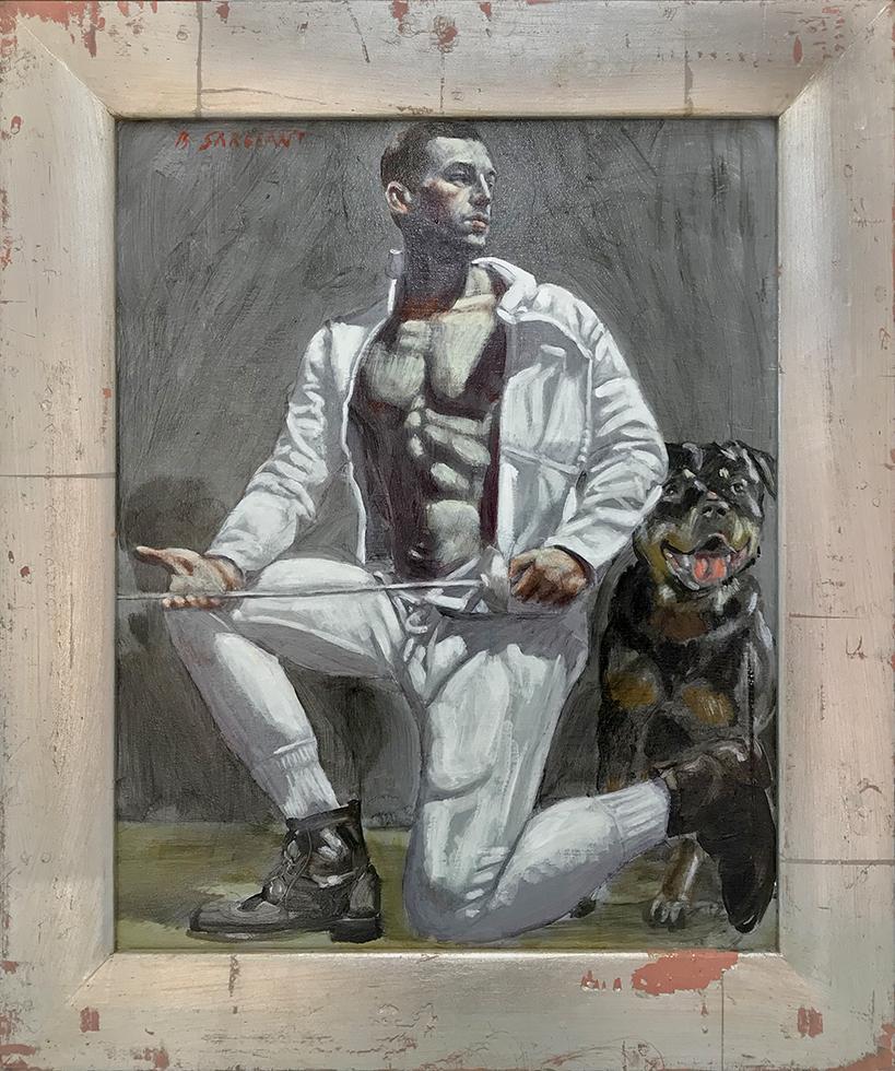 [Bruce Sargeant (1898-1938)] Fencer with Dog
