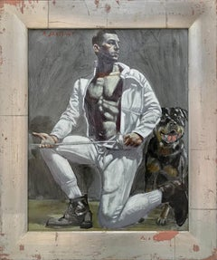 [Bruce Sargeant (1898-1938)] Fencer with Dog