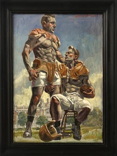 [Bruce Sargeant (1898-1938)] Football Players Waiting on the Sidelines