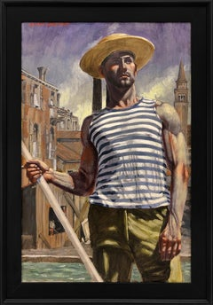 [Bruce Sargeant (1898-1938)] Gondolier Looking Into the Distance