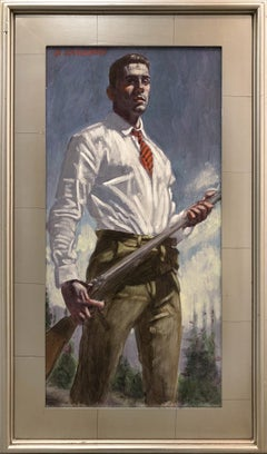 [Bruce Sargeant (1898-1938)] Hunter with Striped Tie