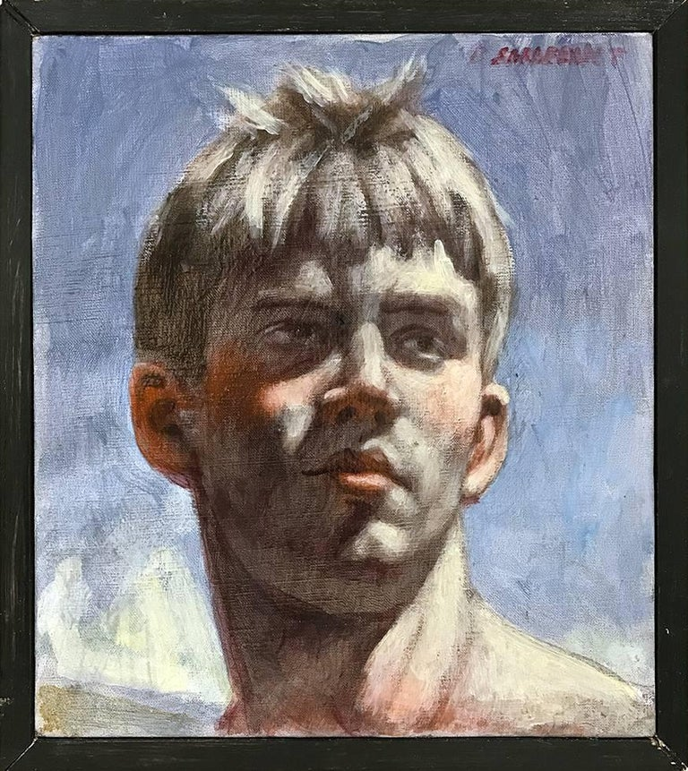 Mark Beard Portrait Painting - [Bruce Sargeant (1898-1938)] Justin Head Study