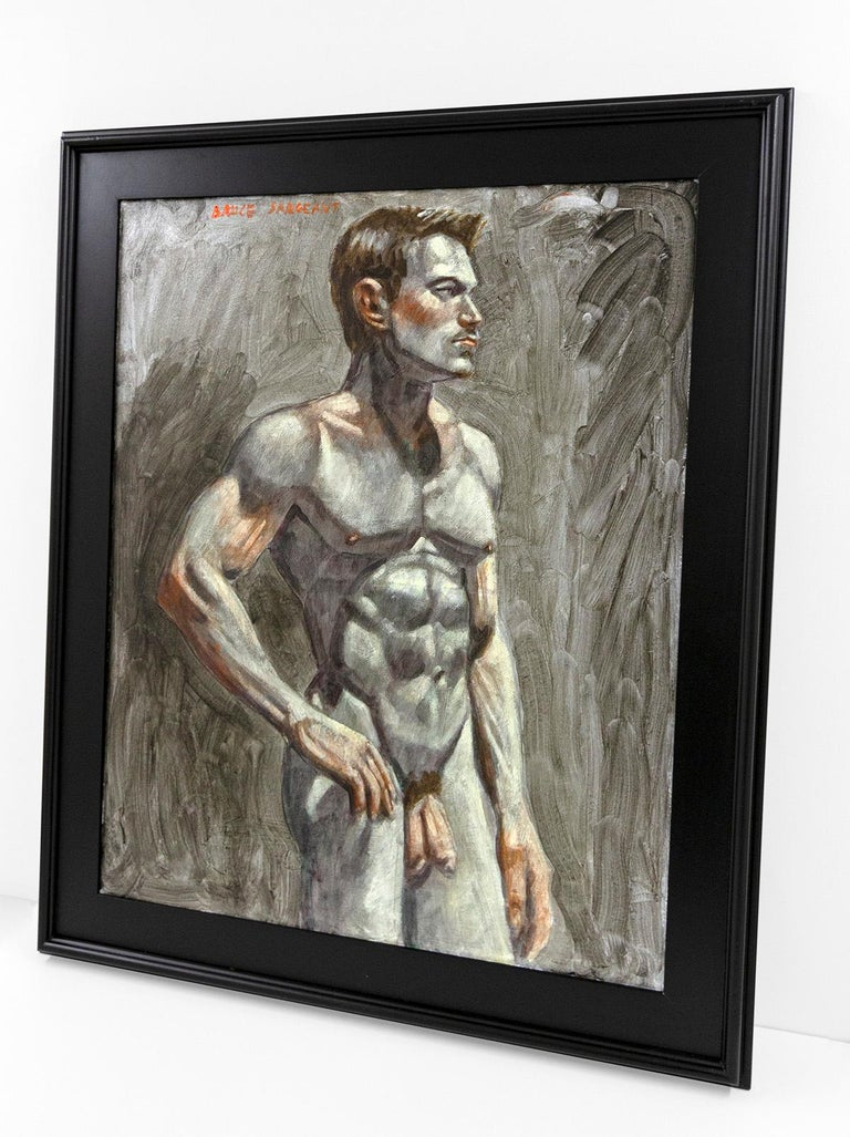 [Bruce Sargeant (1898-1938)] Male Nude Facing Right - Painting by Mark Beard