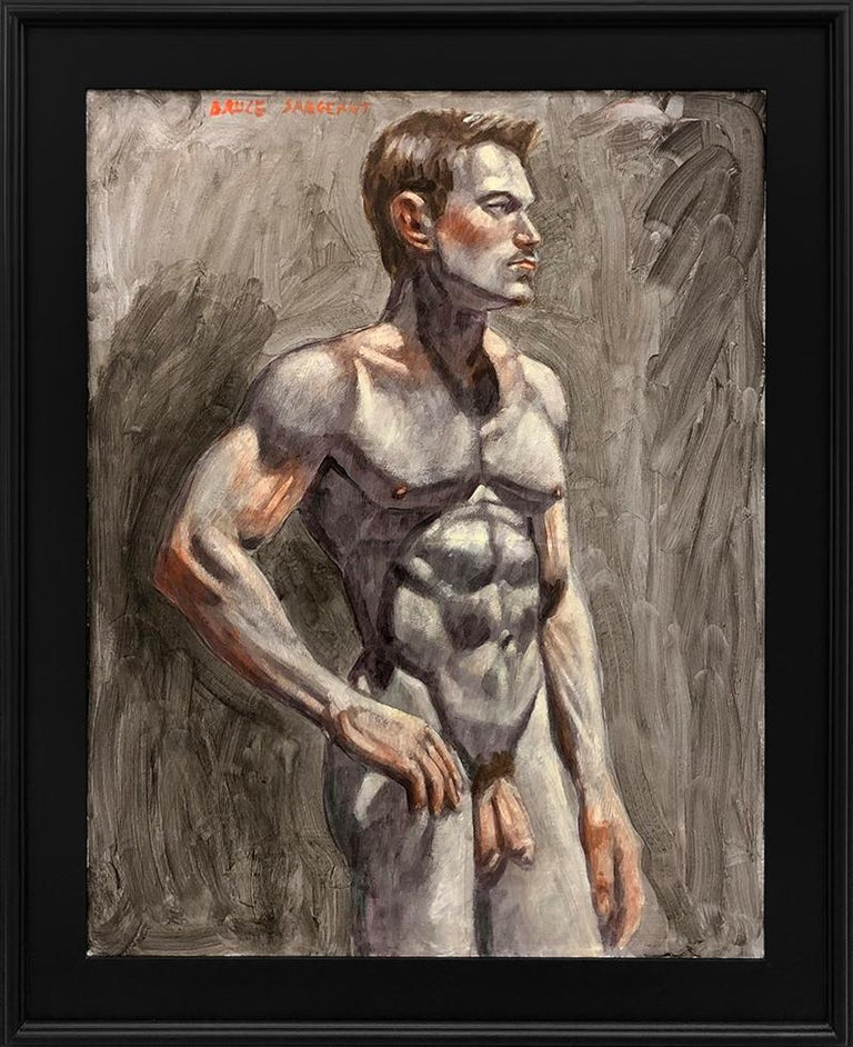Mark Beard Figurative Painting - [Bruce Sargeant (1898-1938)] Male Nude Facing Right