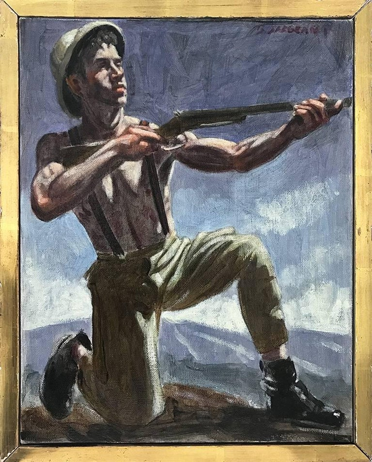 Mark Beard Figurative Painting - [Bruce Sargeant (1898-1938)] Michael Hunting