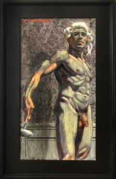[Bruce Sargeant (1898-1938)] Nude Fencer in Powdered Peruke with Épée