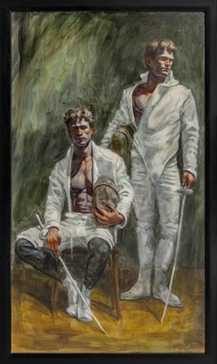 [Bruce Sargeant (1898-1938)] Portrait of Two Fencers