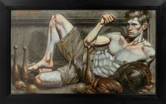 [Bruce Sargeant (1898-1938)] Reclining Athlete with Medecine Ball
