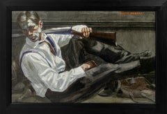 [Bruce Sargeant (1898-1938)] Reclining Man in a Tie
