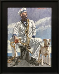 [Bruce Sargeant (1898-1938)] Seated Sailor with Dog