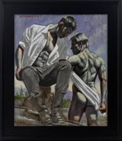 [Bruce Sargeant (1898-1938)] Two Men in Landscape