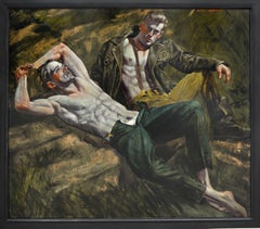 [Bruce Sargeant (1898-1938)] Two Men Relaxing on a Rock