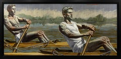 [Bruce Sargeant (1898-1938)] Two Rowers Gliding Across the Water