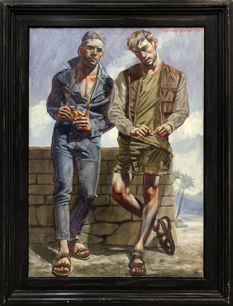[Bruce Sargeant (1898-1938)] Two Young Men in Sandals