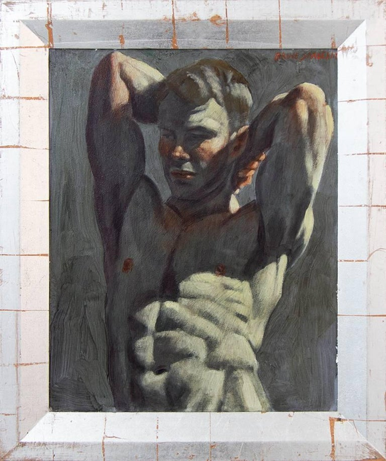 Mark Beard Figurative Painting - [Bruce Sargeant (1898-1938)] Young Bodybuilder