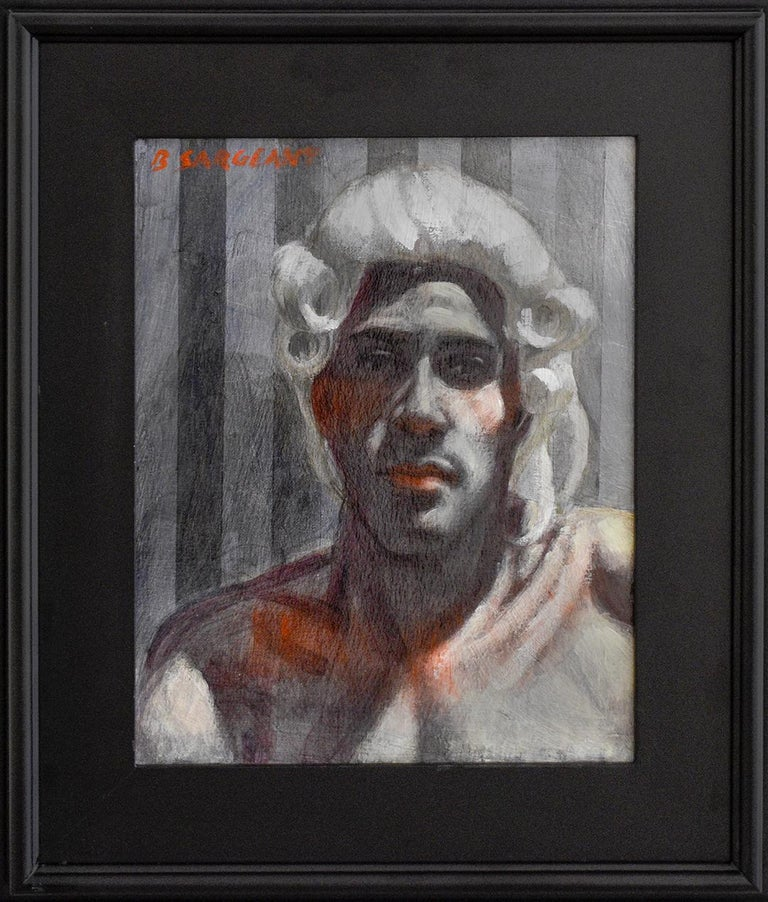 Gentleman with Wig (Academic Portrait Painting by Mark Beard as Bruce Sargeant)  For Sale 1