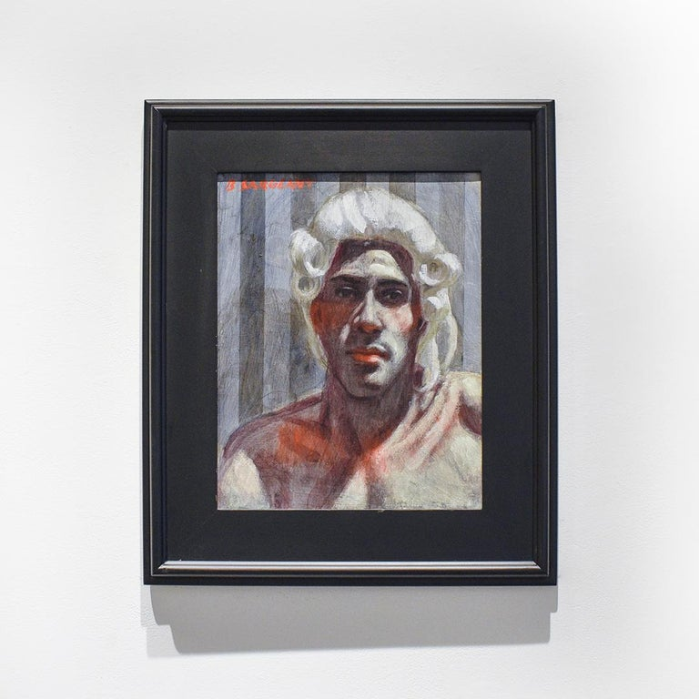 Gentleman with Wig (Academic Portrait Painting by Mark Beard as Bruce Sargeant)  For Sale 3