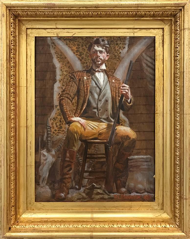[Hippolyte-Alexandre Michallon (1849-1930)] Tate Quinney-Barker avec ses Trophée