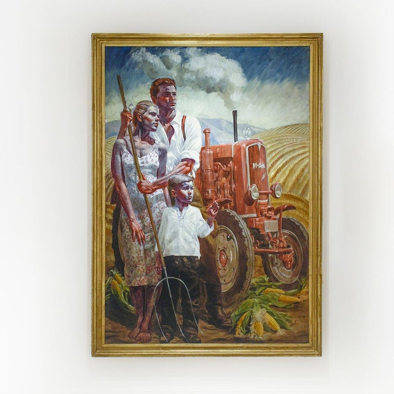 Prosperous Family: Academic Figurative Painting by Mark Beard aka Bruce Sargeant For Sale 1