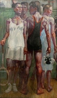 Tennis Whites & Wrestling Singlet (Figurative Oil of Athletes by Mark Beard)