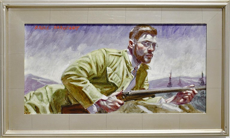 Waiting to Take Aim (Academic Figurative Painting of Hunter by Mark Beard)  For Sale 1