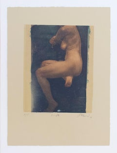 Linda (Polaroid Transfer of Nude Woman on Rives BFK)