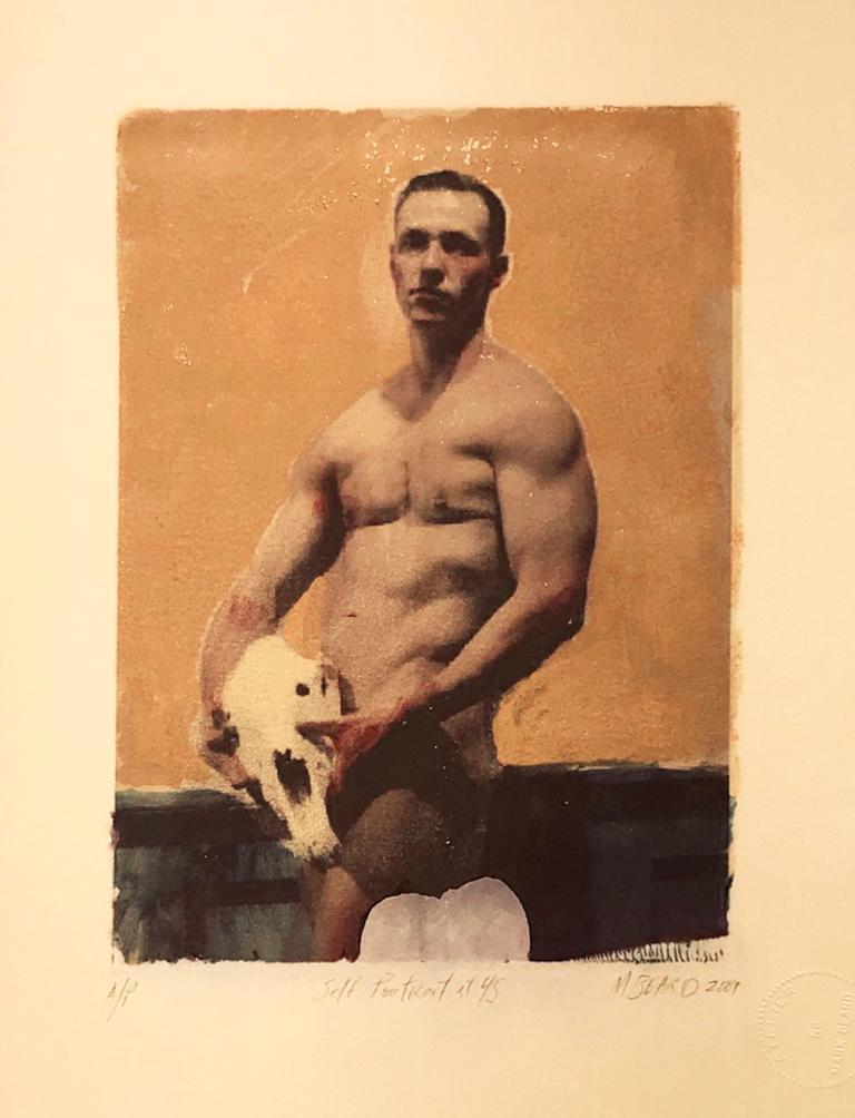 Mark Beard Figurative Photograph - Self Portrait at 45