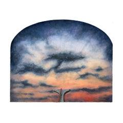 True North - Brief, Surreal Landscape w/ Orange and Blue Sky, Scattered Clouds