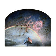 True North - Orientation, Surreal Sky with Billboard, Rainbow and Fireworks