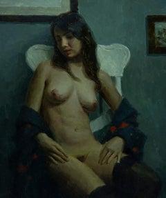 """Looking Away,"" Oil Painting"