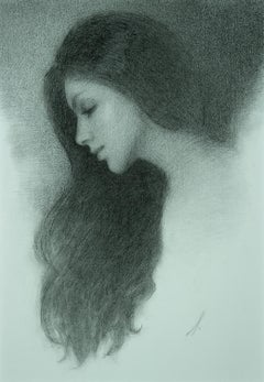 """""""Untitled 12,"""" Charcoal Drawing"""
