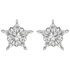 Mark Broumand 0.28 Carat Diamond Star Stud Earrings