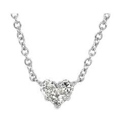 Mark Broumand 0.43 Carat Heart Shaped Diamond Pendant