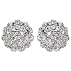 Mark Broumand 0.47 Carat Round Brilliant Cut Diamond Stud Earrings