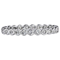 Mark Broumand 0.50 Carat Round Brilliant Cut Diamond Twisted Eternity Band